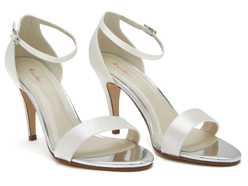 Rainbow Club Harley - Ivory Satin Strappy Shoe