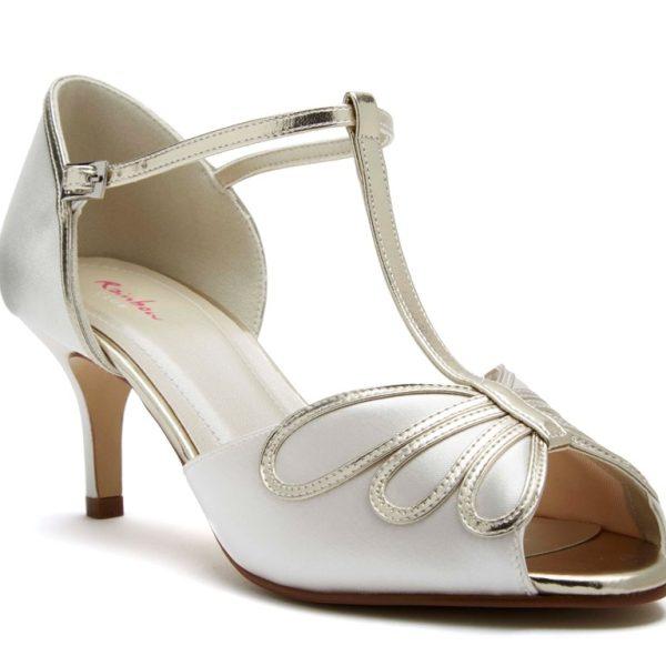 Rainbow Club Harlow - Peep Toe Satin Shoe