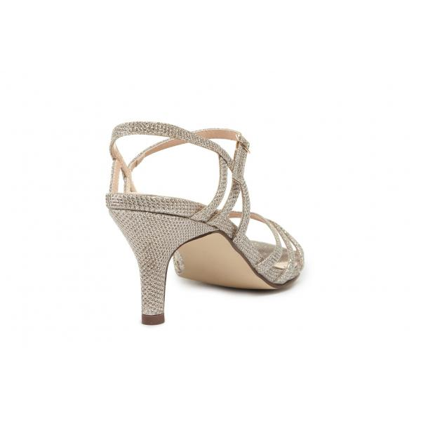 Pink Paradox Harper - Low Heel Champagne Strappy Sandal