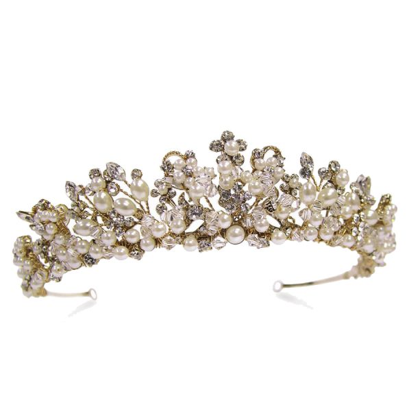 Ivory and Co Bailey Gold Pearl Tiara