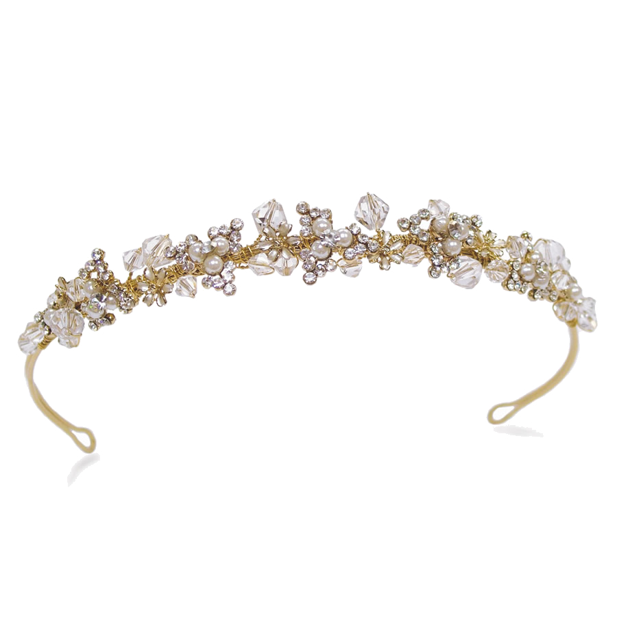 Ivory and Co Courtney Gold Headband