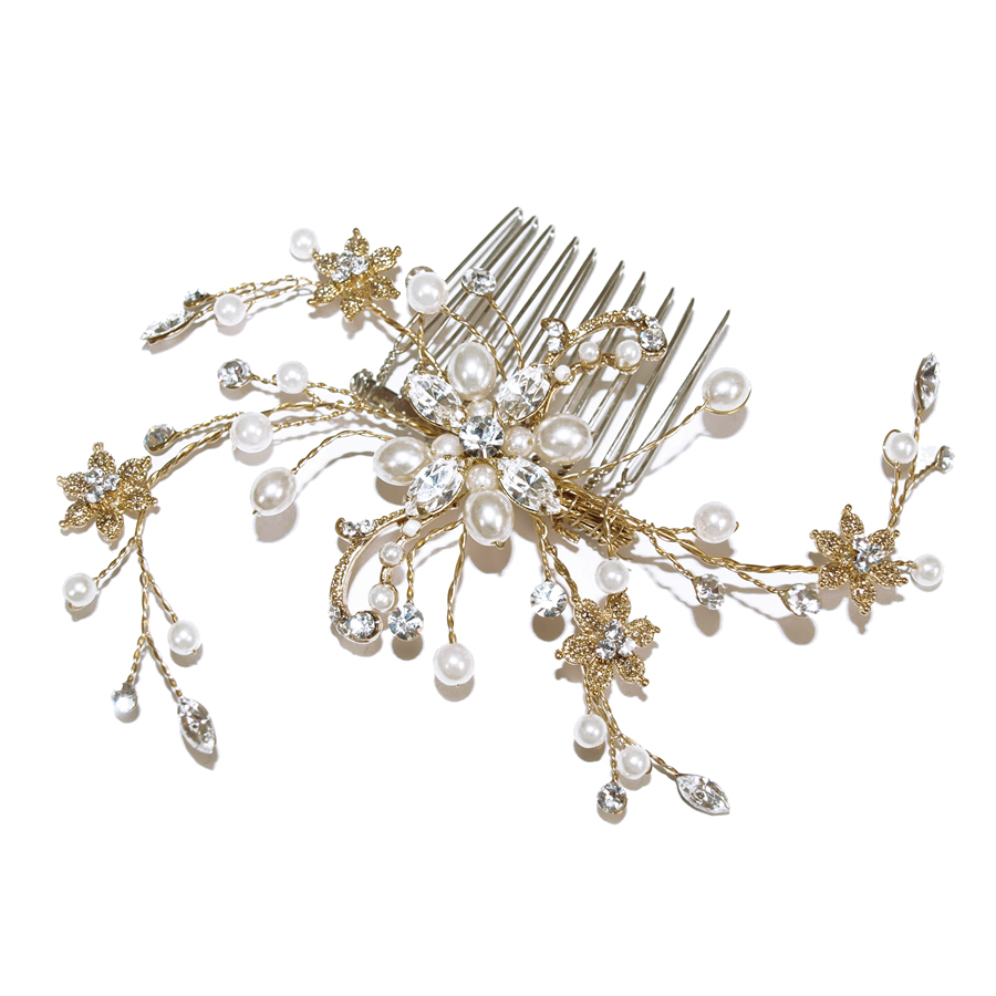 Ivory and Co Gold Pearl Spray Hair Comb