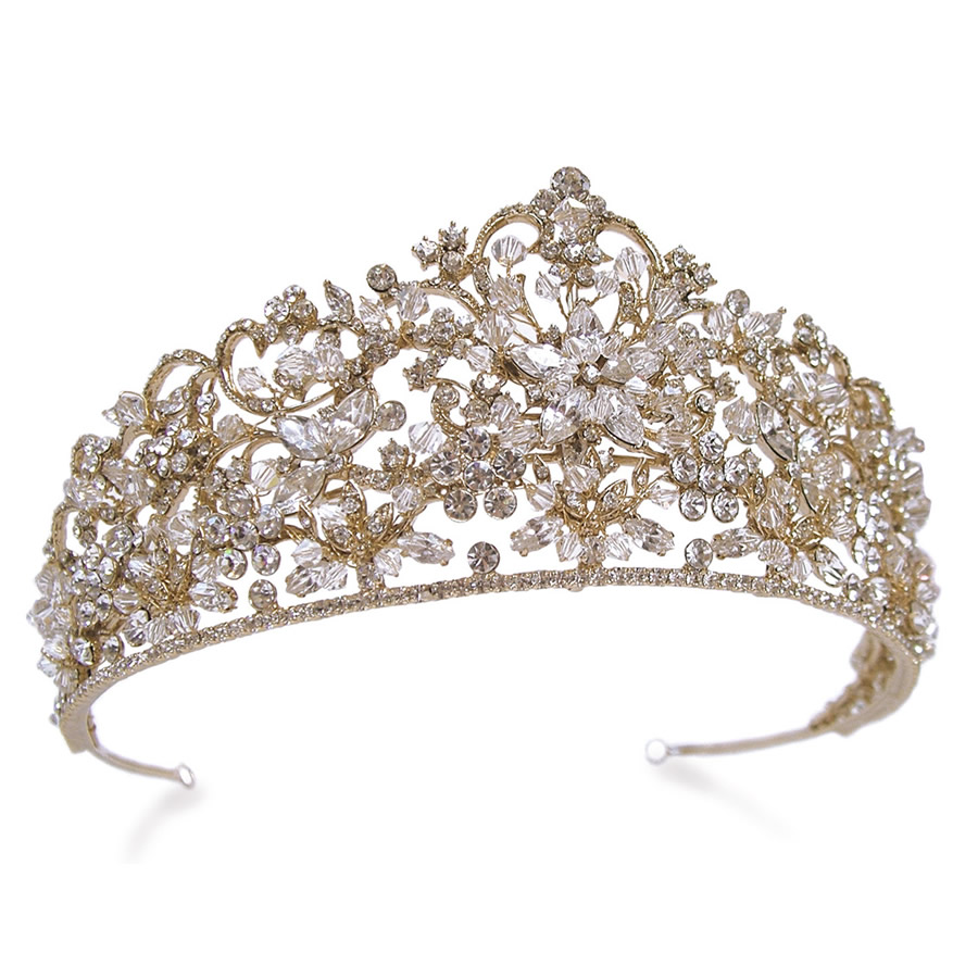 Ivory and Co Rebecca Gold Tiara