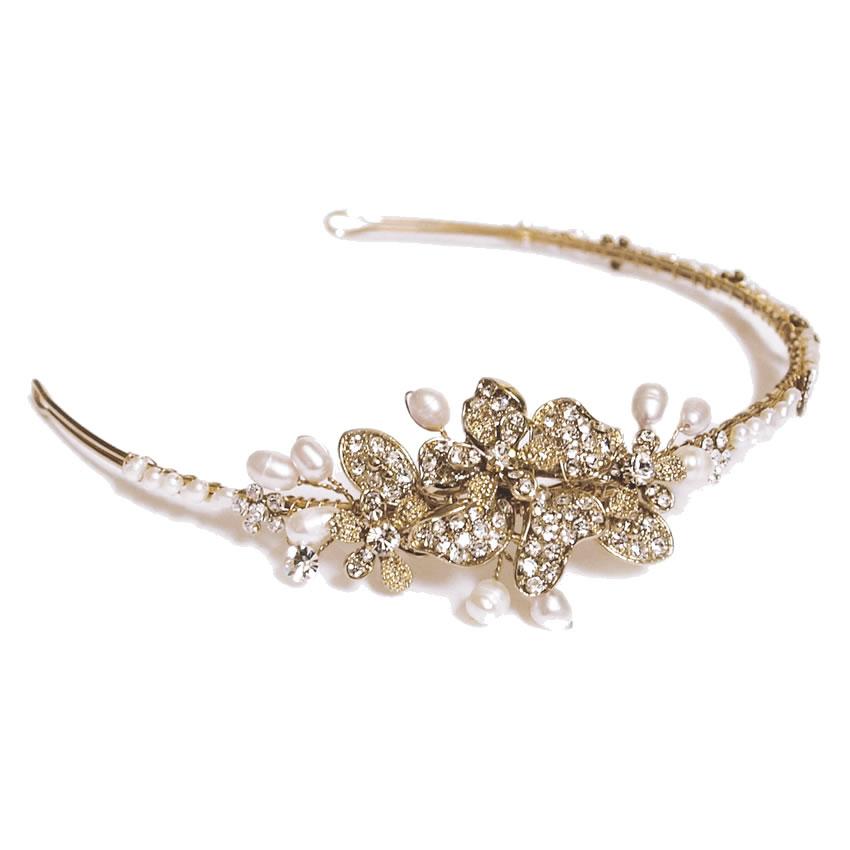 Ivory and Co Lulu Gold Headband