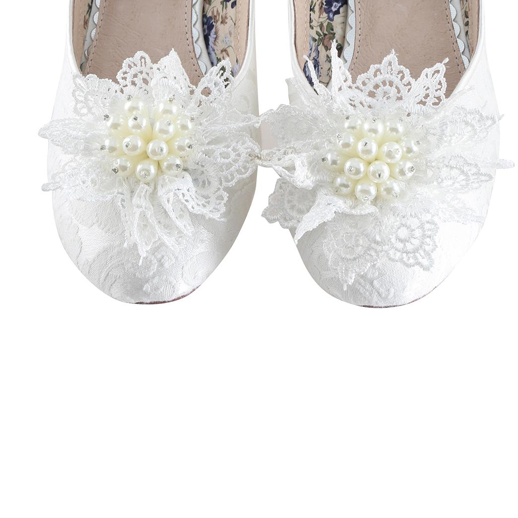 Perfect Bridal Kiwi Shoe Trim - Ivory