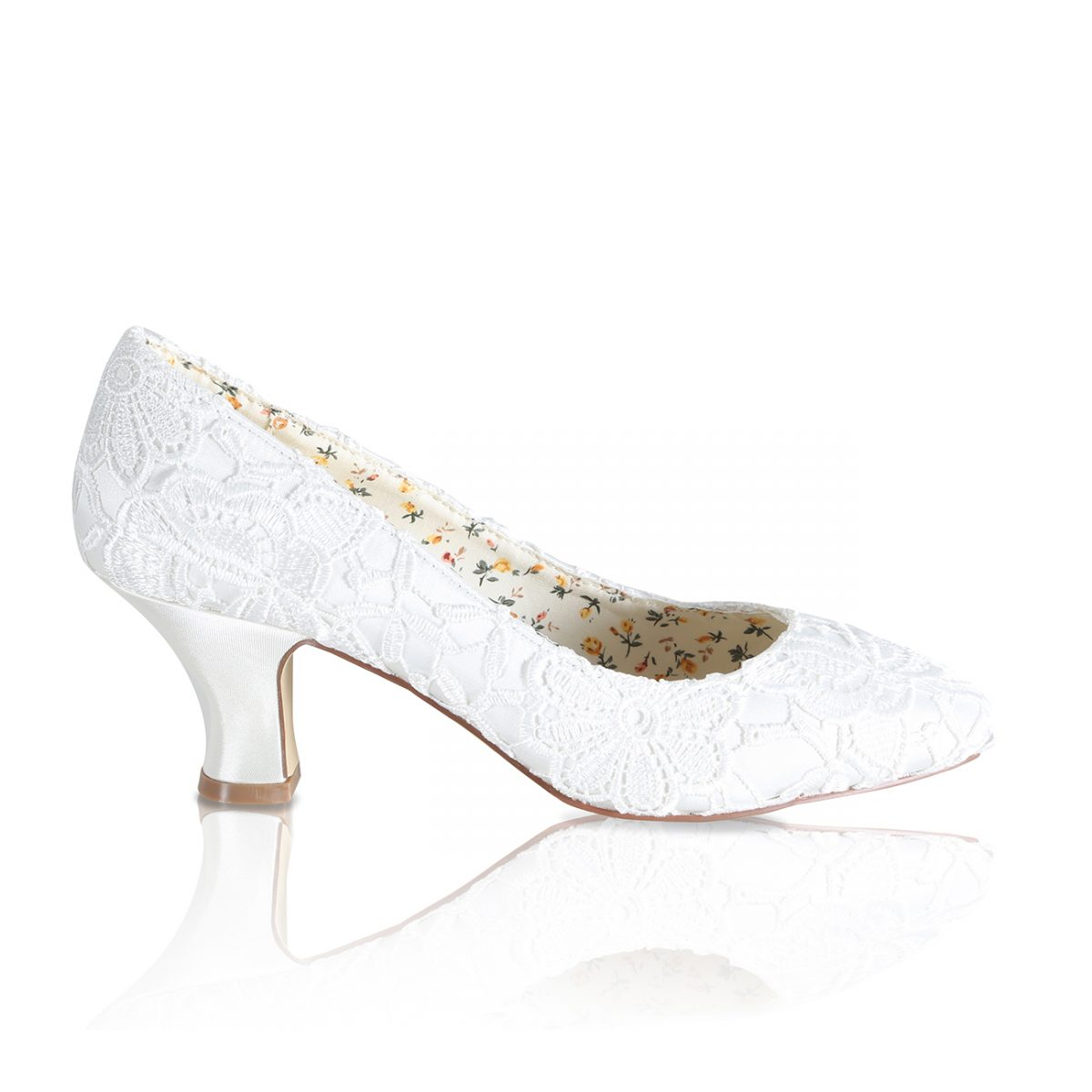 Perfect Bridal Mable Shoes - Ivory Lace