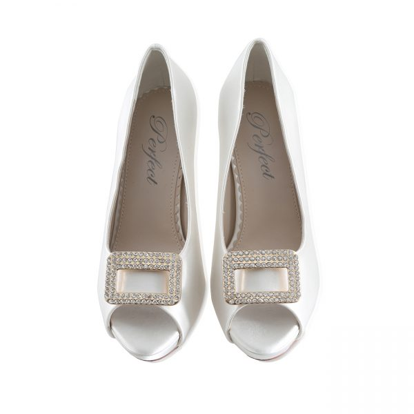Perfect Bridal Date Shoe Trim - Silver