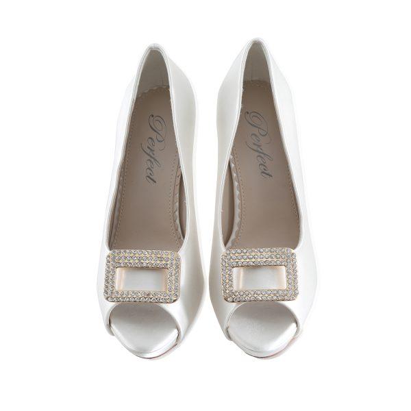 Perfect Bridal Date Shoe Trim - Silver