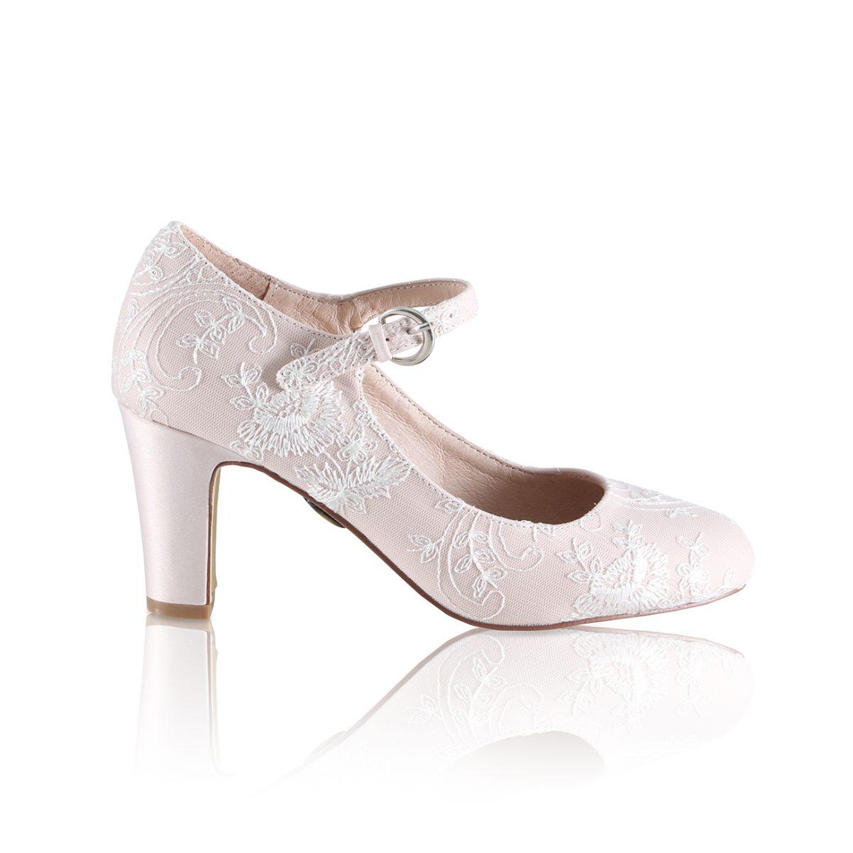 Perfect Bridal Martha Shoes - Blush
