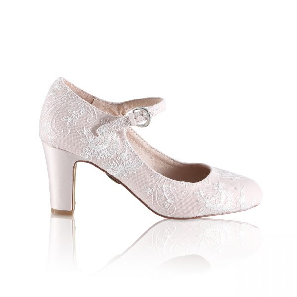 Perfect Bridal Martha Shoes - Blush