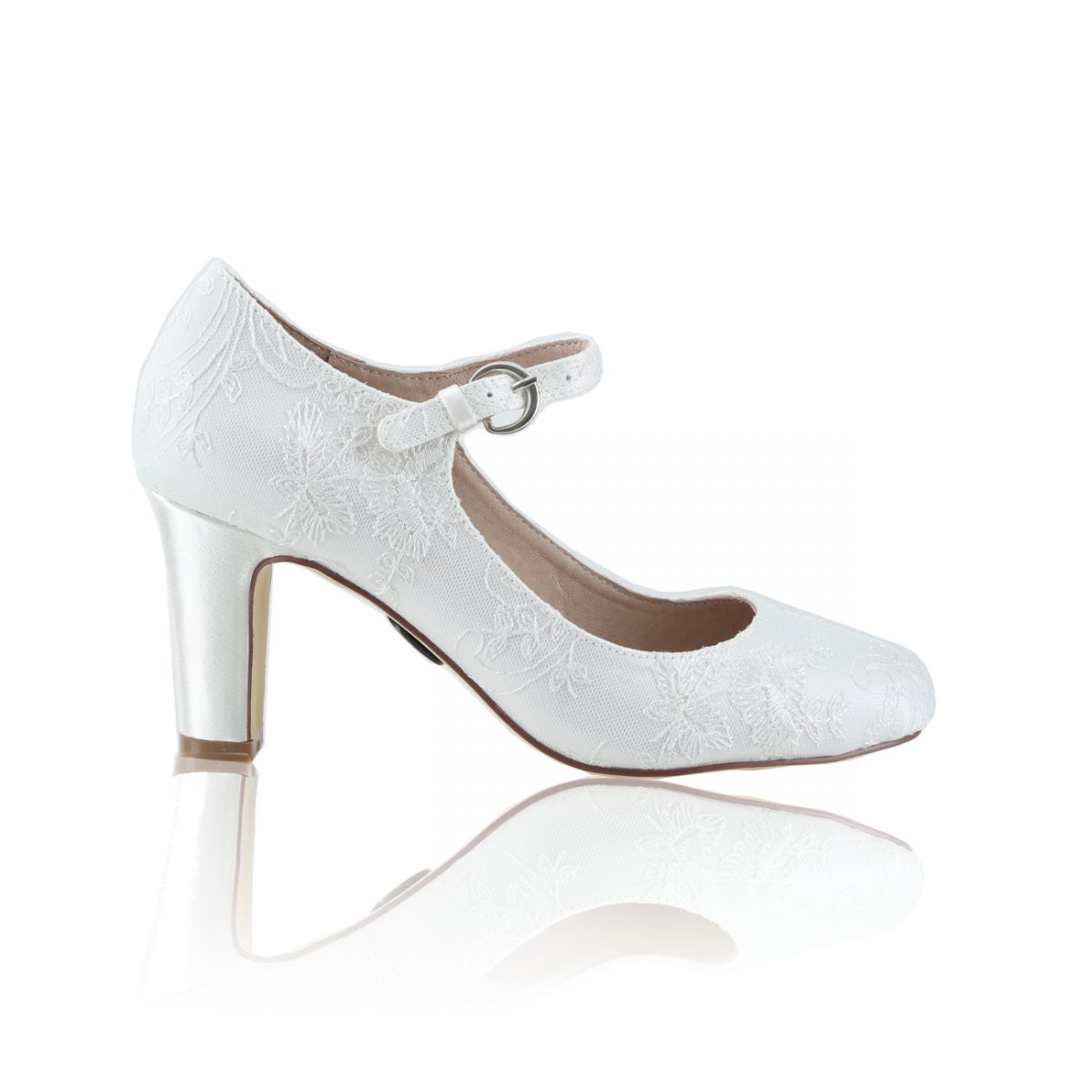 Perfect Bridal Martha Shoes - Satin/Lace
