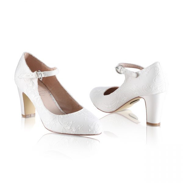 Perfect Bridal Martha Shoes - Oyster