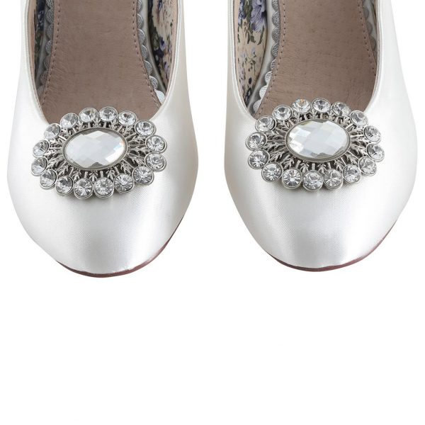 Perfect Bridal Pear shoe Trim - Silver