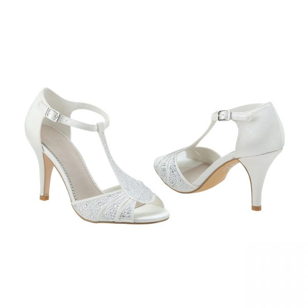 Perfect Bridal Perla Shoes - Ivory Satin
