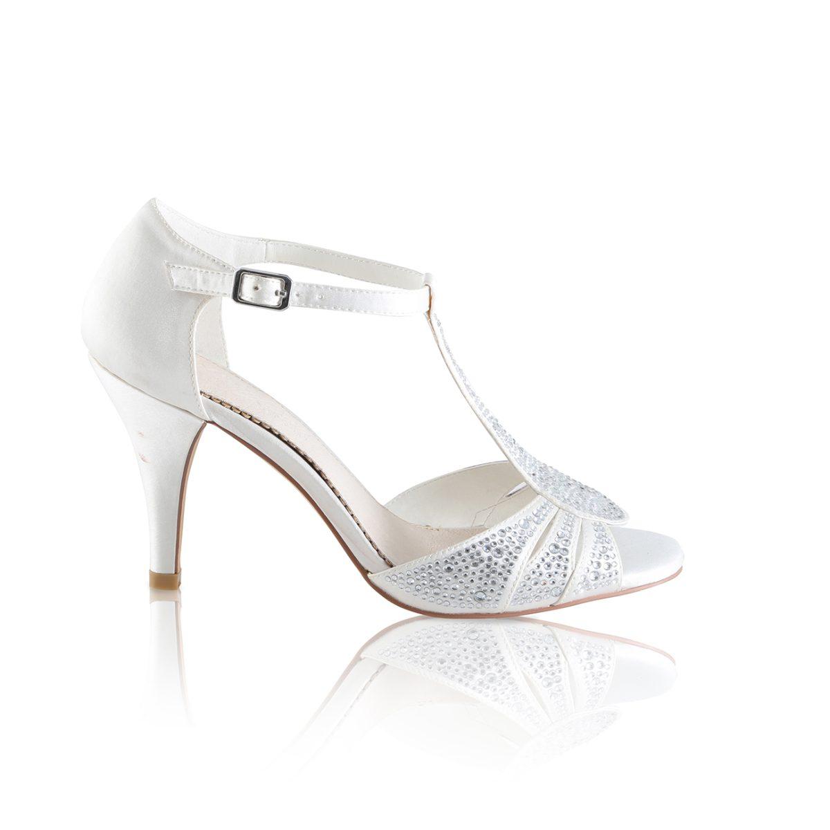 Perfect Bridal Perla Shoes - Ivory Satin