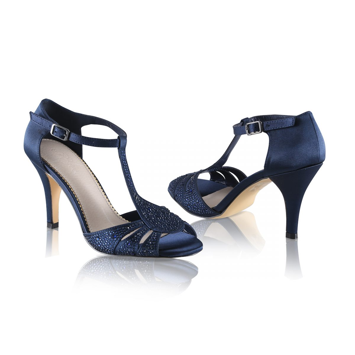 Perfect Bridal Perla Shoes - Navy Satin