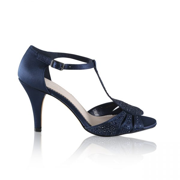 Perfect Bridal Perla Shoes - Navy Satin