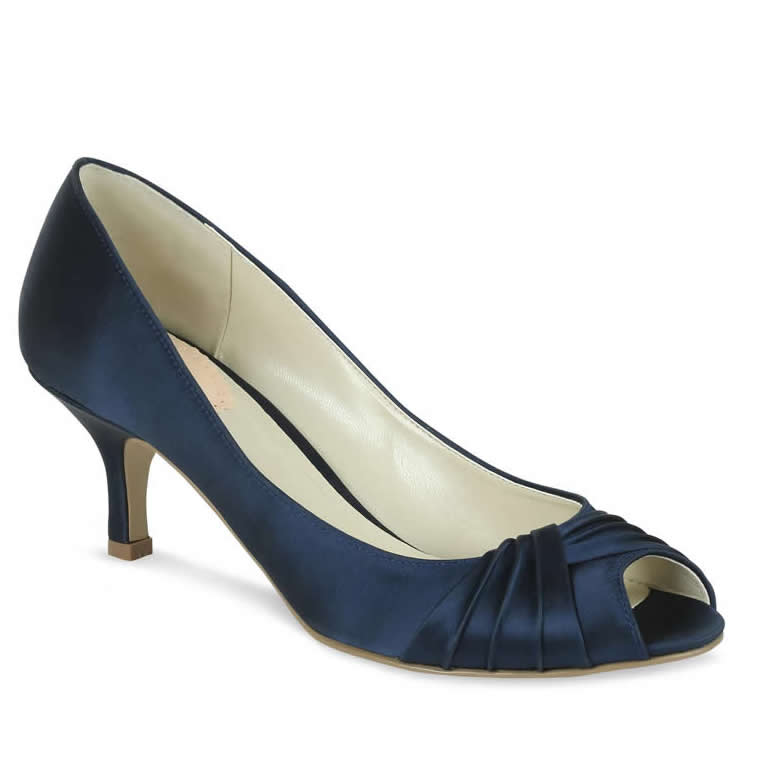 Pink Paradox Romantic Navy Blue Satin Shoes