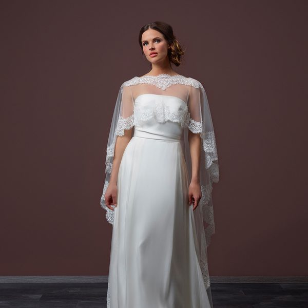 Poirier Belle Floor Length Bridal Cape
