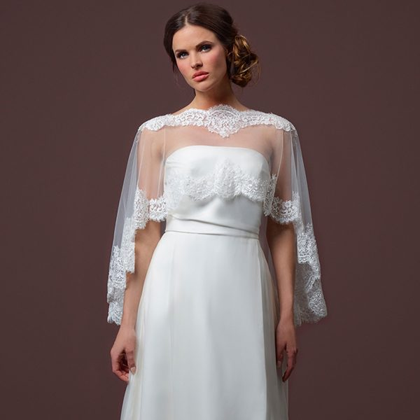 Poirier Belle Bridal Cape