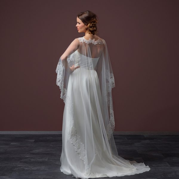 Poirier Dewdrop Floor Length Bridal Cape