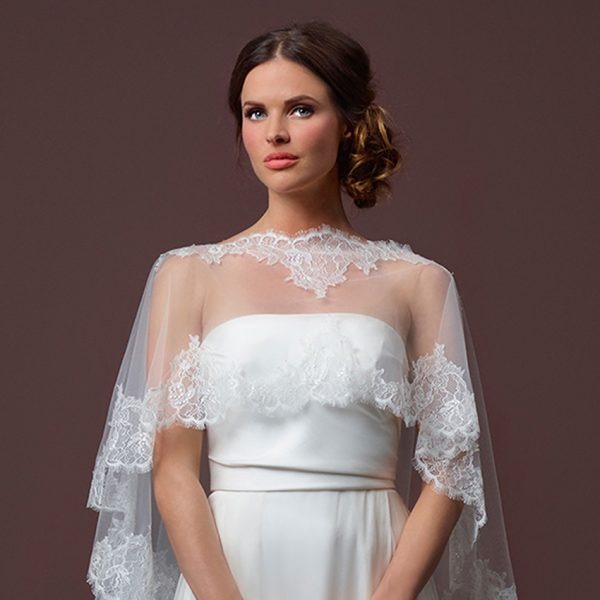 Poirier Enchanted Floor Length Bridal Cape