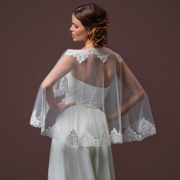 Poirier Moonlight Bridal Cape