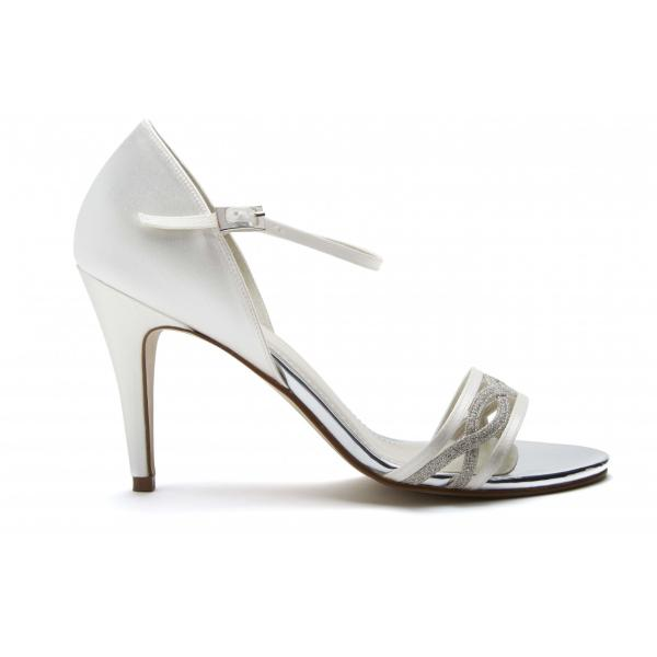 Rainbow Club Dakota - Ivory Shimmer & Satin Sandal
