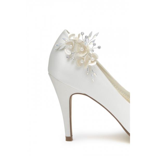 Rainbow Club Elara - Ivory Opal Shoe Clips