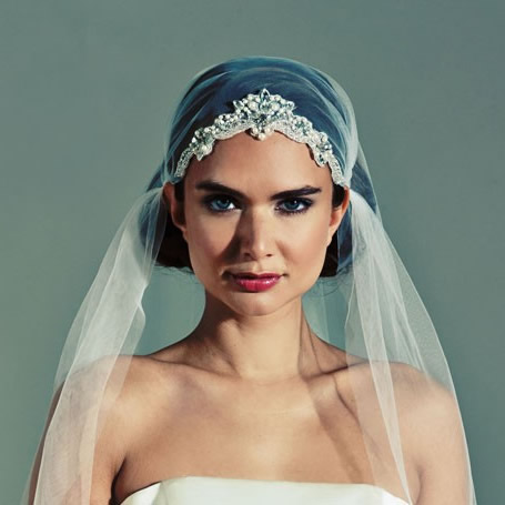 Joyce Jackson Rosehill Cap Wedding Veil