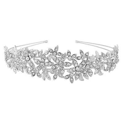 Athena Crystal Couture Headband - Clear