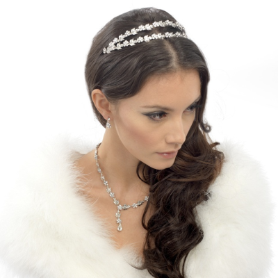 Elite Collection Crystal Shimmer Headband - Clear