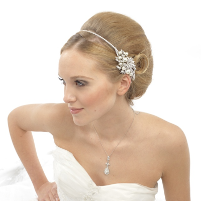 Elite Collection Vintage Pearl Headband- Ivory