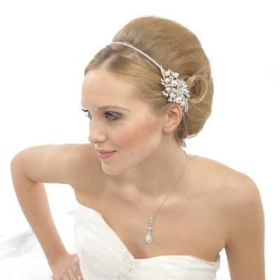 Elite Collection Vintage Pearl Headband- Ivory