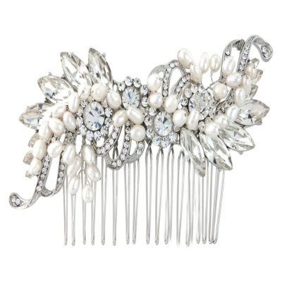 Athena Vintage Inspired Pearl Hair Comb