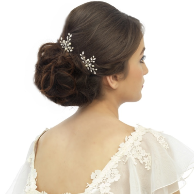 Elodie Pearl Spray Bridal Pin