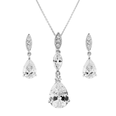 CZ Collection Bridal Necklace Set