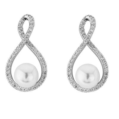 CZ Collection Exquisite Necklace Set Silver