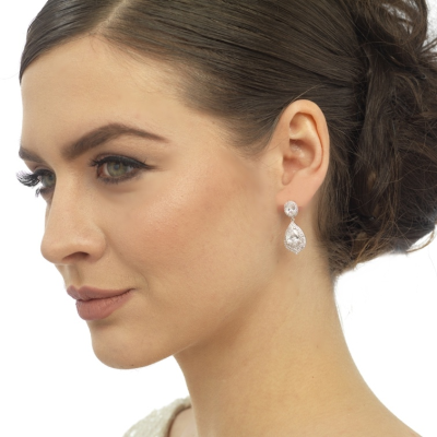 CZ Collection Gatsby Dainty Treasure Earrings