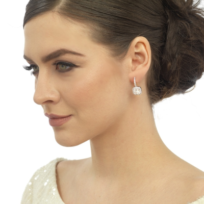 CZ Collection Timeless Beauty Earrings - Silver