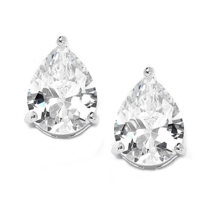 CZ Collection Classic Stud Earrings
