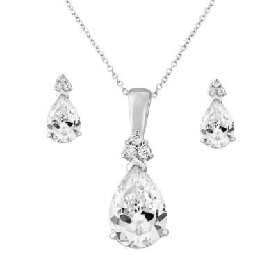 CZ Collection Delicate Starlet Necklace Set