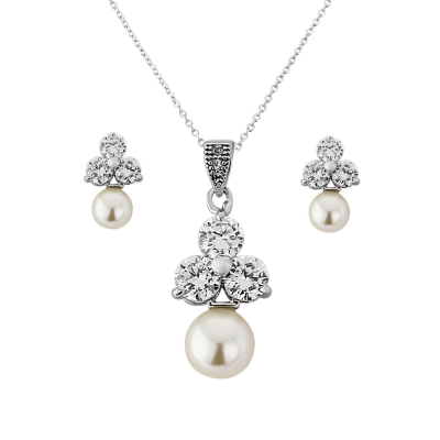 CZ Collection Chic Starlet Necklace Set