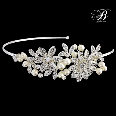 Sass B Scarlett Headband - Silver