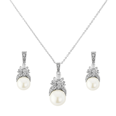 CZ Collection Regal Crystal Necklace Set