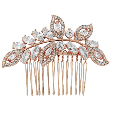 Athena Rose Gold Hair Comb