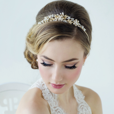 Sass B Bethany Crystal Luxe Tiara - Gold