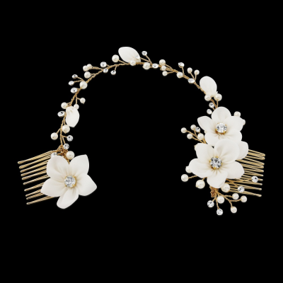 Sass B Gold Anais Bohemian Chic Headpiece - Ivory