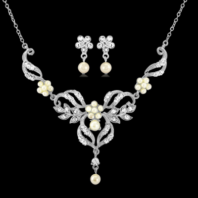 Sass B Collection Chic Pearl Necklace Set