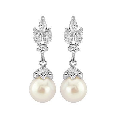 CZ Collection Crystal Gem Earrings